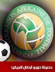 حصيلة دوري أبطال أفريقيا