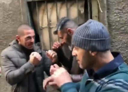 """شاهد: لكمات أحمد السقا وياسر جلال في كواليس """"رحيم"""""""