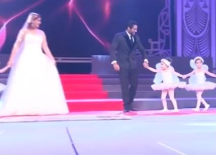هكذا وصف أحمد فلوكس احتفاله مع هنا شيحة بزواجهما أمام رئيس الجمهورية