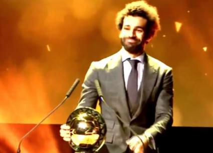 شاهد لحظة فوز محمد صلاح بجائزة أفضل لاعب في إفريقيا