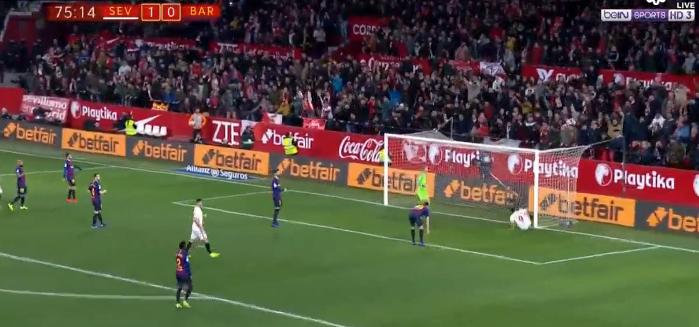 شاهد خسارة برشلونة أمام إشبيلية في ذهاب ربع نهائي كأس ملك إسبانيا