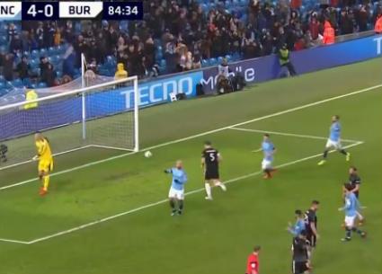 شاهد أهداف فوز مانشستر سيتي على بيرنلي 5-0