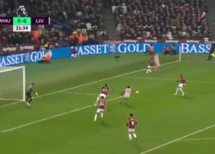 هدفا تعادل ليفربول ووست هام 1-1