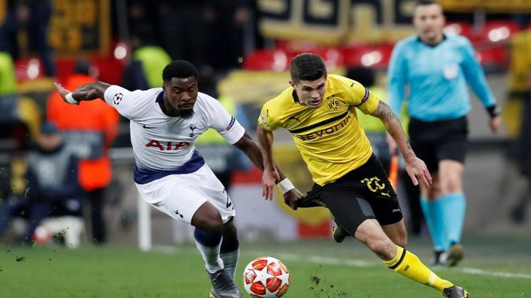 شاهد أهداف فوز توتنهام على دورتموند 0/3 في دوري أبطال أوروبا