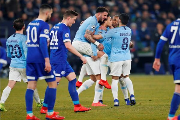 شاهد أهداف فوز مانشستر سيتي على شالكه 2/3 في دوري أبطال أوروبا