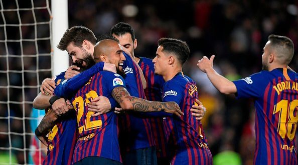 أهداف فوز برشلونة على رايو 3-1 في الدوري الإسباني