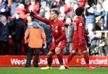 شاهد هدف ليفربول الأول أمام بيرنلي.. صلاح يصنع
