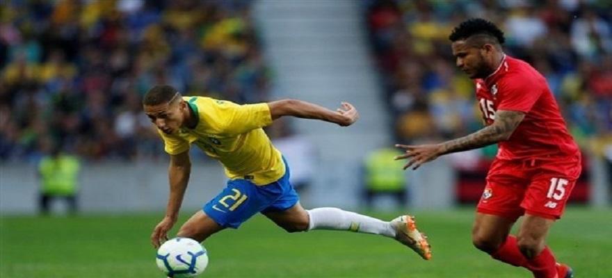 شاهد هدفا تعادل البرازيل وبنما 1-1