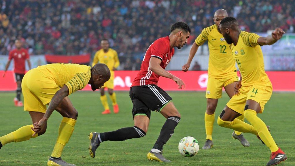 شاهد أهداف فوز جنوب إفريقيا على ليبيا 2-1