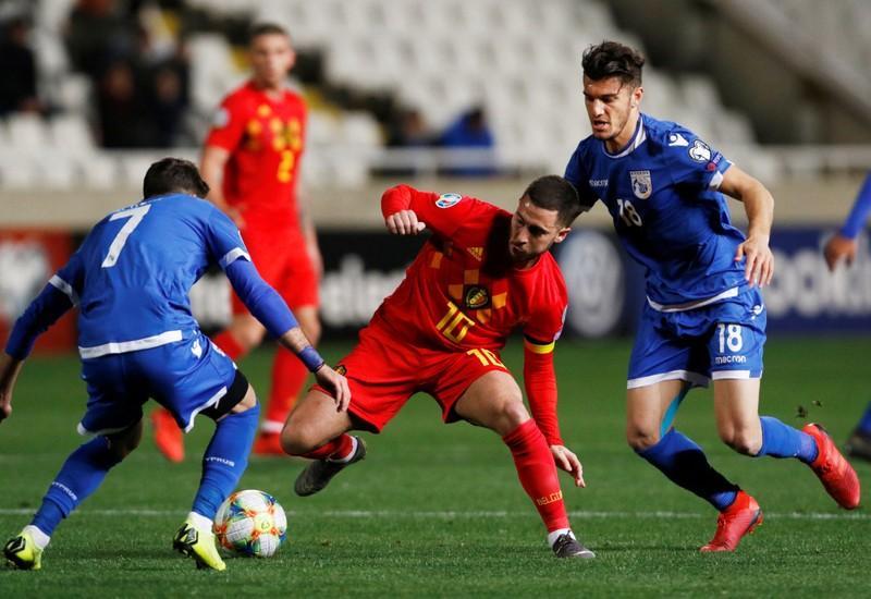 شاهد هدفا فوز بلجيكا على قبرص بتصفيات الأمم الأوروبية