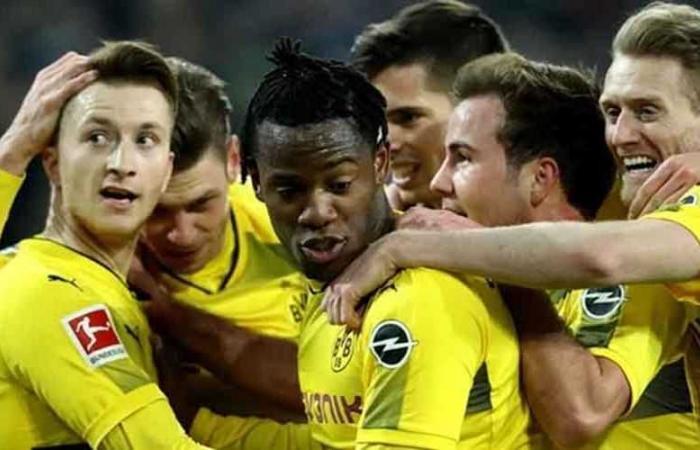 شاهد ملخص فوز دورتموند على فولفسبورج 2-0 بالدوري الألماني