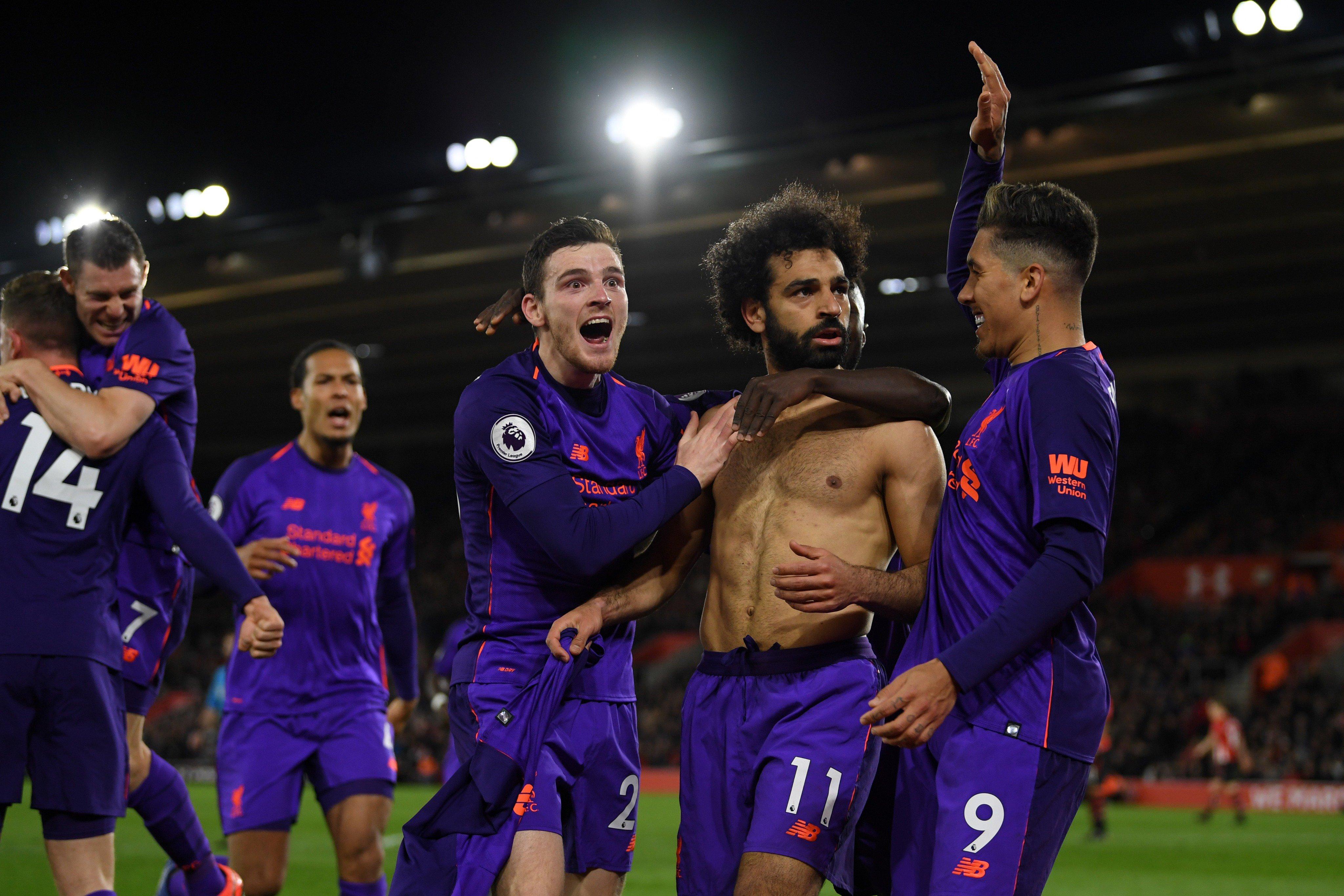 أهداف فوز ليفربول على ساوثامبتون 3-1