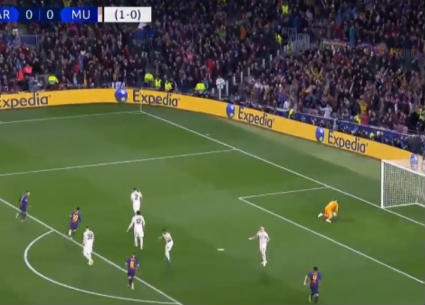 أهداف فوز برشلونة على مانشستر يونايتد 3-0