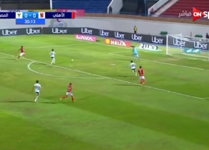 هدفا فوز الأهلي على المصري
