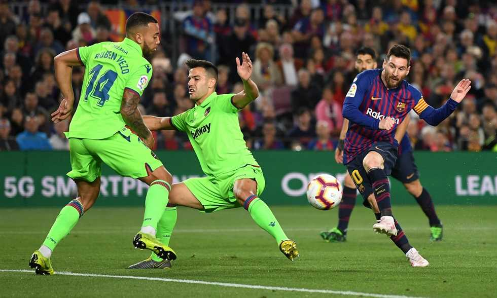 هدف فوز برشلونة على ليفانتي..يتوج بطلا للدوري الإسباني