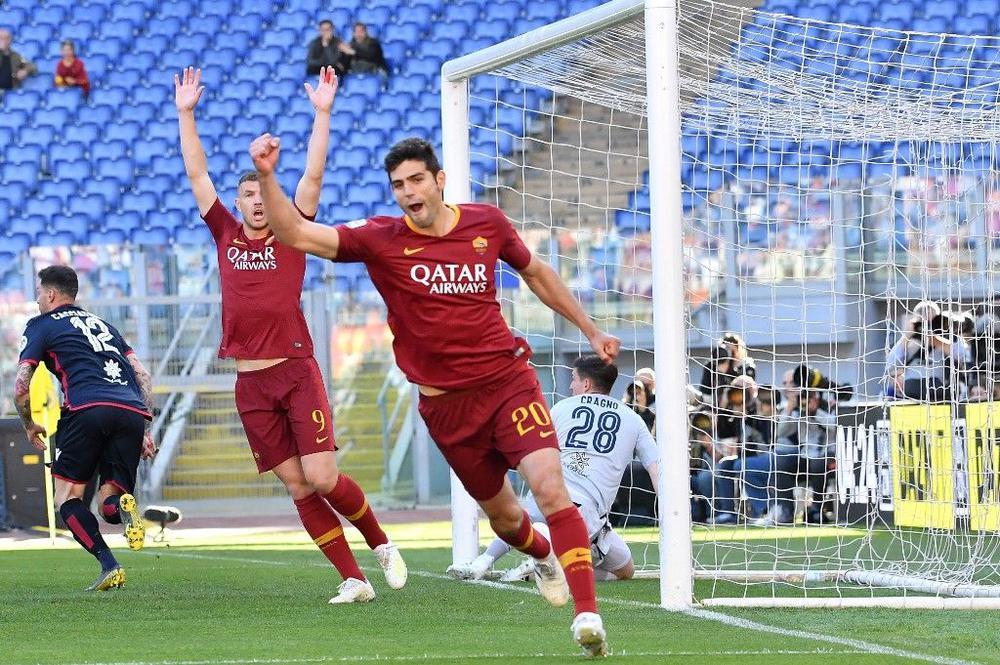 أهداف فوز روما على كالياري 3-0