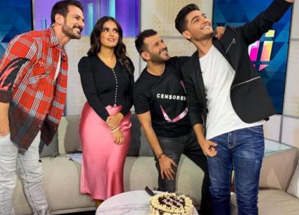 """محمد عساف يغني """"تتر"""" مسلسل """"عروس بيروت"""" في الأستوديو"""