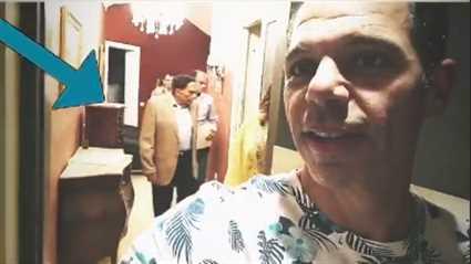 """رامي إمام ينشر فيديو لعادل إمام من كواليس """"فالنتينو"""""""