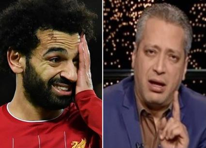 """حفل """"الكاف""""..همسة عتاب من تامر أمين لمحمد صلاح"""