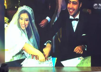 غادة رجب وعبد الله حسن في أول لقاء تليفزيوني بعد زواجهما