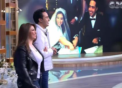 شاهد..زفة ثانية لغادة رجب وعبد الله حسن في برنامج منى الشاذلي