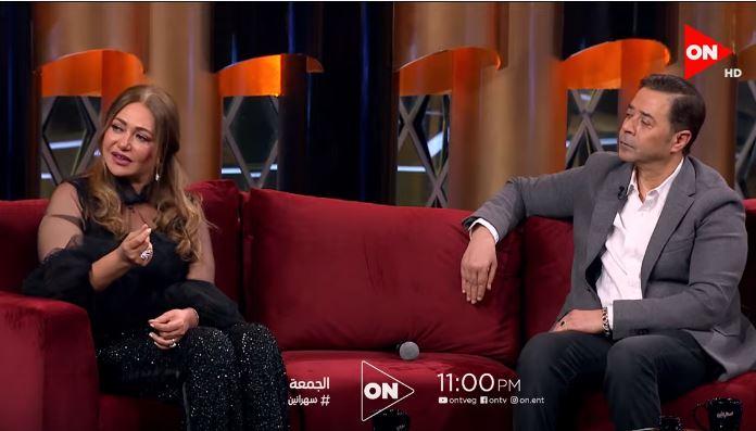 """شاهد- ليلى علوي ومدحت صالح """"سهرانين"""" مع أمير كرارة"""