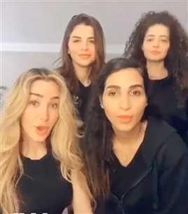"""هنا الزاهد وصديقاتها لكريم فهمي: """"كل البنات بتحبك""""!"""
