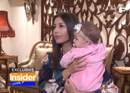 الظهور الأول لطفلة جنات في مقابلة تليفزيونية