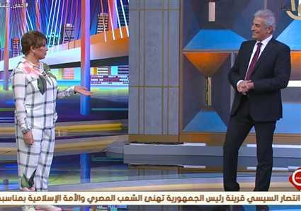 """موقف طريف..""""عيدية"""" 50 جنيها من وائل الإبراشي لنجوى إبراهيم"""