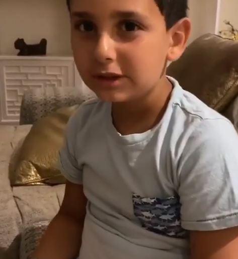 فيديو طريف- مباراة في الطاولة بين أصالة وابنها