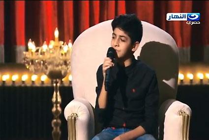 """الطفل محمد نبيل يغني شارة مسلسل """"ابن حلال"""""""